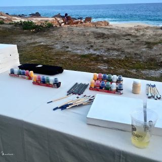 Arty~party, painting and sipping….