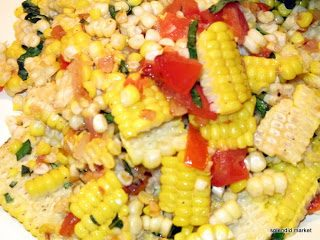 Corn-off-the-cob salad