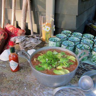 Gazpacho on the deck…