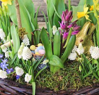 Grocery store flowers can make elegant Easter arrangements…