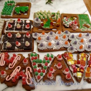 Gingerbread homes…a colorful, lonely job…