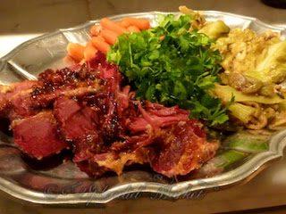 Corned Beef & Cabbage w/ Ruby Cumberland Sauce