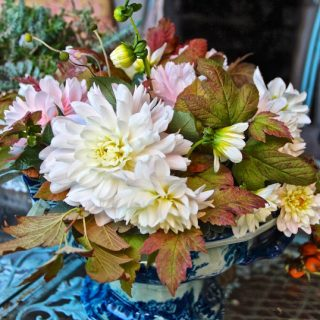 Bouquets can be made with ease with autumn leaves…