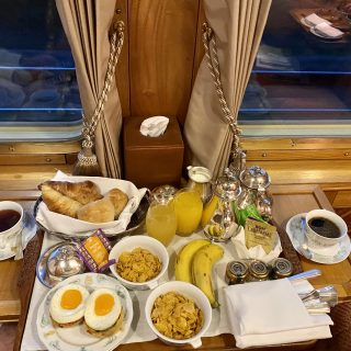 Breakfast on the Eastern & Oriental express…