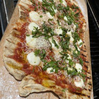 Grilled sourdough pizza…