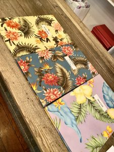 The Ivy menus, floral covers