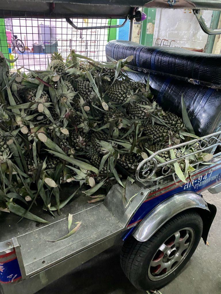 Fresh cut cantaloupes, Bangkok produce market, Pak Khlong Talat