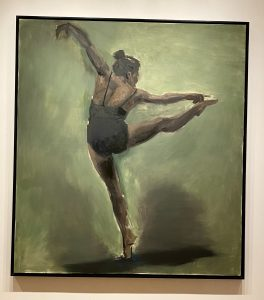 Ballet dancer, oil painting, Donald Byrd, Seattle Art Museum, Virginia and Bagley Wright collection