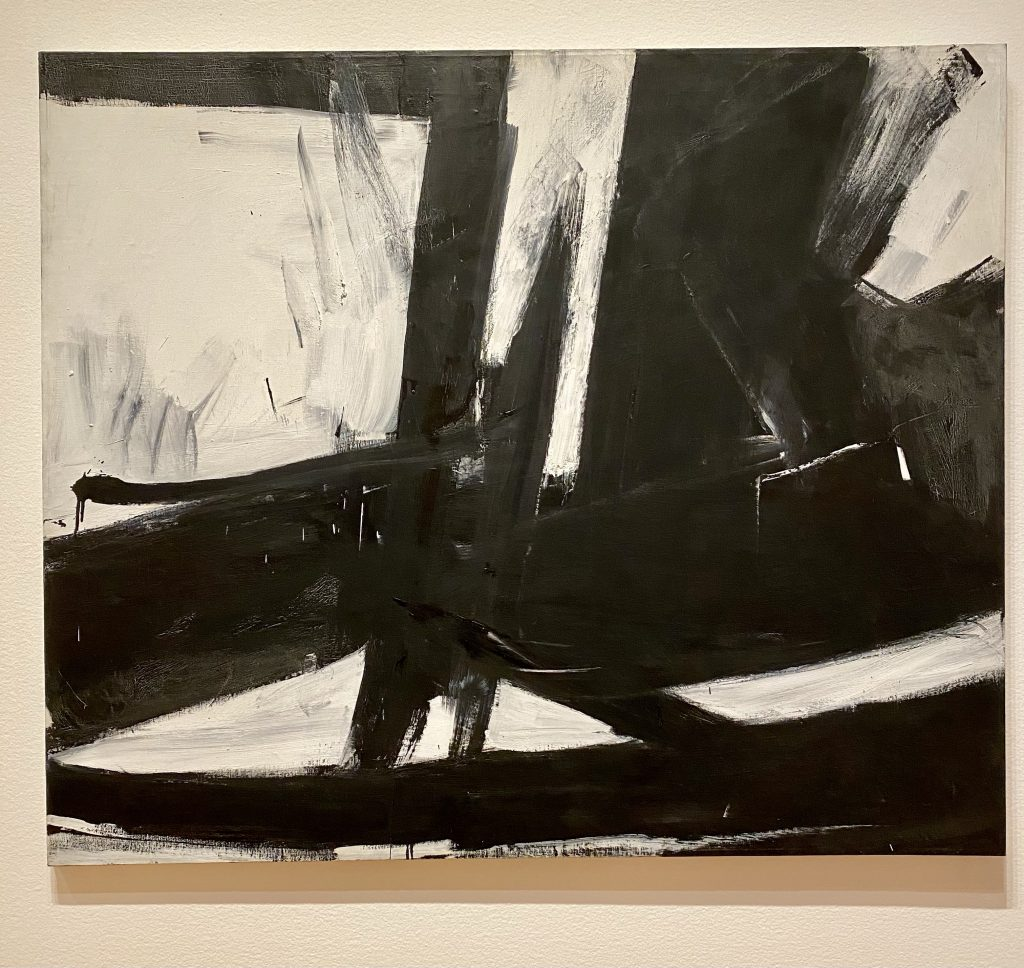Cross sections, black and white oil on canvas, Franz Kline, Virginia and Bagley Wright Collection, Seattle Art Museum