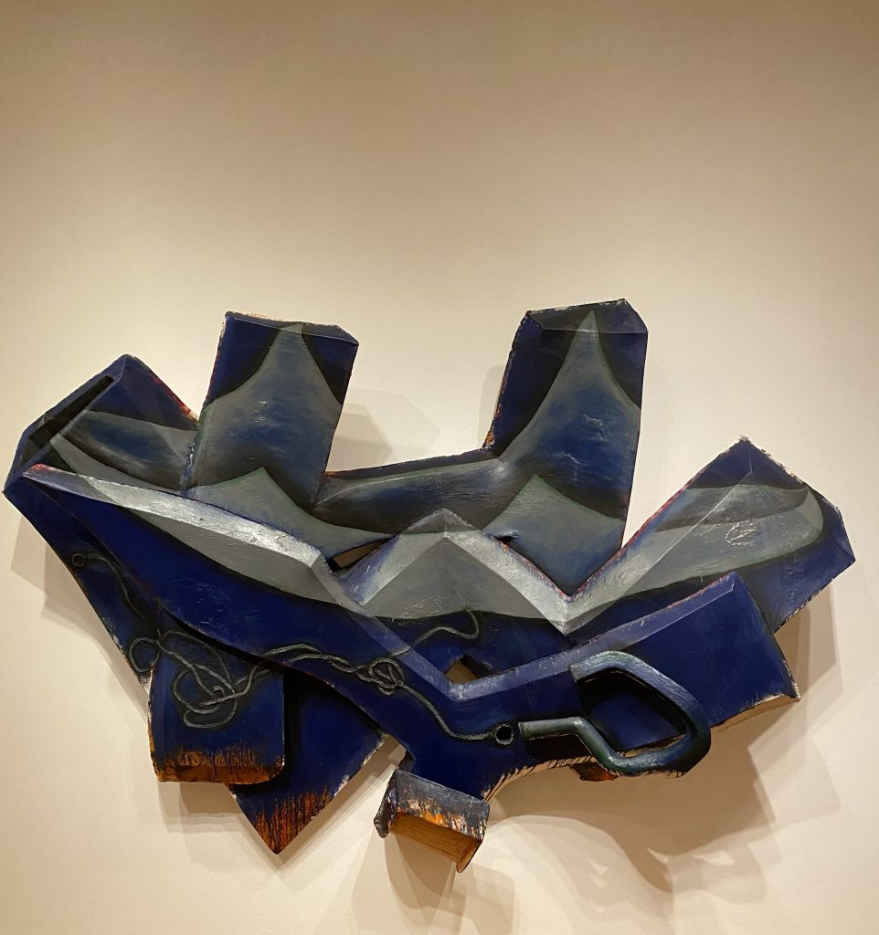 Blue wall sculpture, Virginia and Bagley Wright collection, Seattle Art Museum