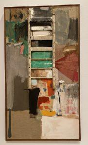 Modern art, painted ladder, Seattle Art Museum