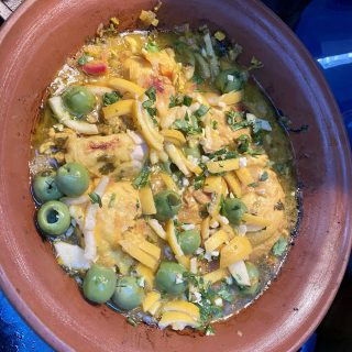 Chicken Tagine with preserved lemons and green olives…