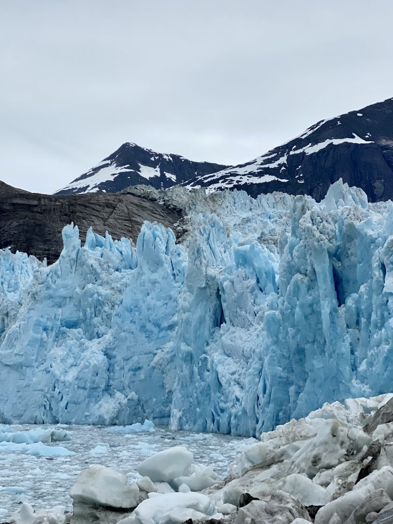 alaska, La Conte Glacier, La Conte Bay, icebergs