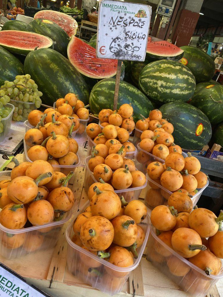 Nespole, Loquats, Mercato dei Fiori, Ventimiglia, Italy, Ventimille, Italie